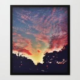 Cotton Candy Charleston Skies Canvas Print