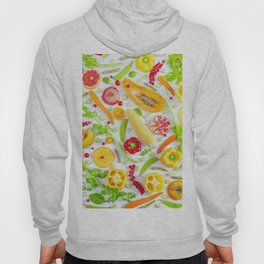 Fruits and vegetables pattern (12) Hoody
