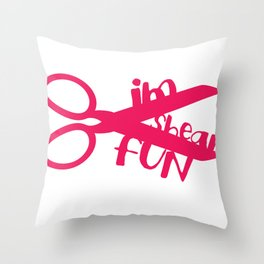 Shear Fun Throw Pillow