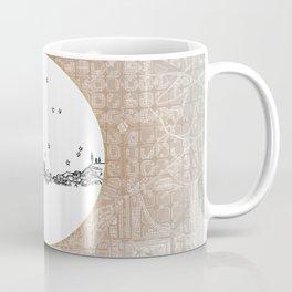 Barcelona, Spain City Skyline Illustration Drawing Coffee Mug