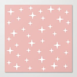 Mid Century Modern Star Pattern 443 Dusty Rose Canvas Print