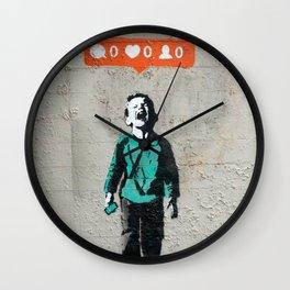 Banksy, social life, likes Wall Clock