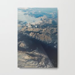 Mountain Aerial Digital Prints, Spain Mountains Poster, Iberian Prints, Modern Home Decor, Wall Art, Metal Print