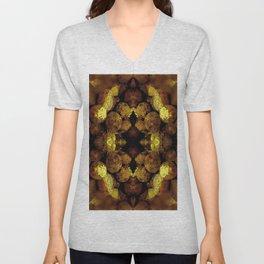 Golden Grapes Embossed Unisex V-Neck
