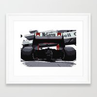 f1 Framed Art Prints featuring Mclaren F1 MP4-4 by SABIRO DESIGN