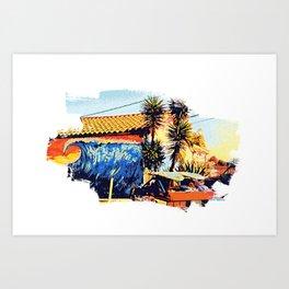 Surf Shop Graphic Art Print