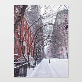 Snow Streets, Washington Square North Canvas Print