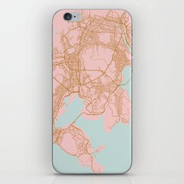 Busan map, South Korea iPhone Skin