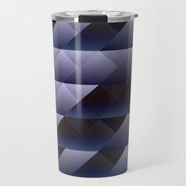 Geometric blue gray Travel Mug