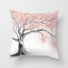 Forever Blossom Throw Pillow