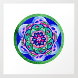 Nature Path Mandala Art Print