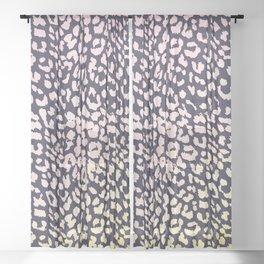Leopard Rose & Yellow Watercolor Gradient Sheer Curtain