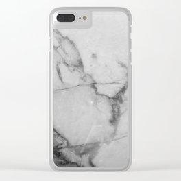 White Howlite Clear iPhone Case