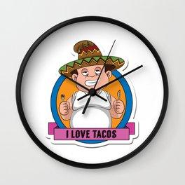 I love tacos Wall Clock