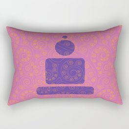 Buddha - Geometric meditation 2 Rectangular Pillow