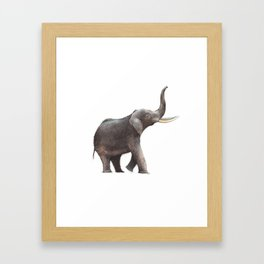 Elephant Drawing Framed Art Print