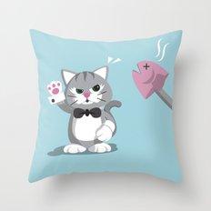 No Feeding! Throw Pillow