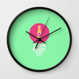Team bride August 2017 Henparty T-Shirt Dcck2 Wall Clock
