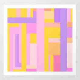 Pink Purple Geometry Art Print