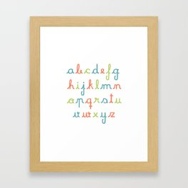 abc... rgb... Framed Art Print