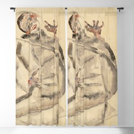 Egon Schiele - I Will Gladly Endure for Art and My Loved Ones Blackout Curtain