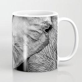 Elephant Portrait BW Coffee Mug
