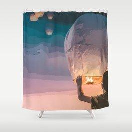Light Up the Night Shower Curtain