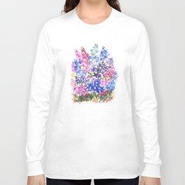 Blue Delphinium Garden Long Sleeve T-shirt