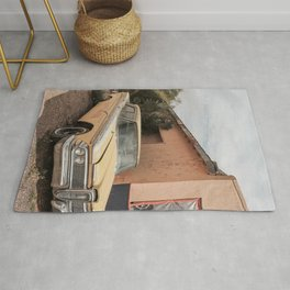 Old American Car Art Print | Famous Route 66 Arizona | Travel Photography Rug