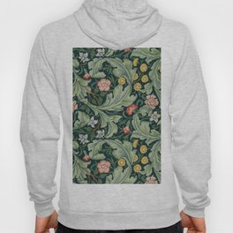 William Morris Leicester Herbaceous Italian Laurel Acanthus Textile Colorful Floral Pattern Hoody