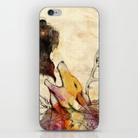 howl iPhone & iPod Skins featuring Howl by Lucy Wood - White Rabbit Says