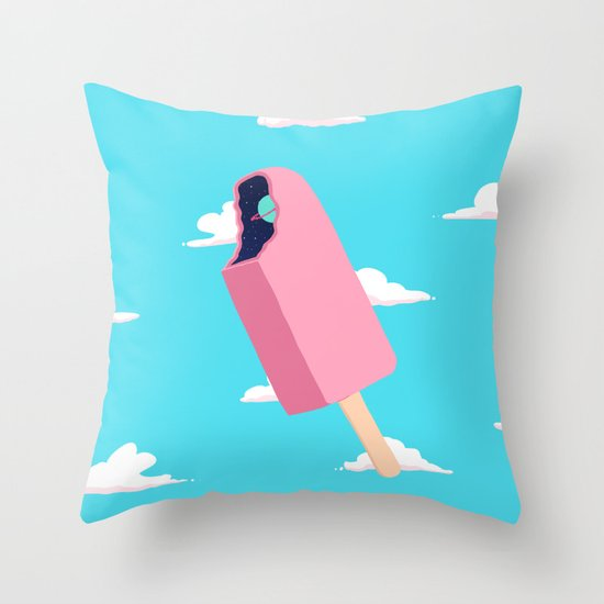 Creamsicle To Another Dimension...  Throw Pillow