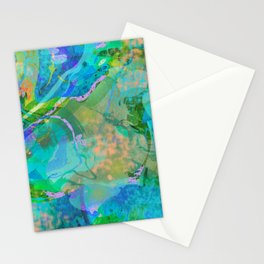 Abstract Marbled Multi-colored 1697 Stationery Cards