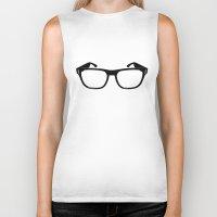 glasses Biker Tanks featuring Glasses by Bjarni Bragason