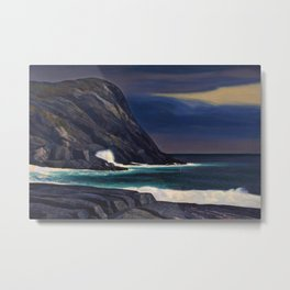 Classical Masterpiece Brewing Storm, Monhegan Island, Maine by Rockwell Kent Metal Print