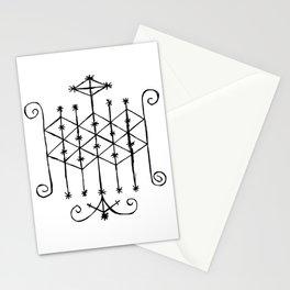Ogun Voodoo Veve Symbol Stationery Cards