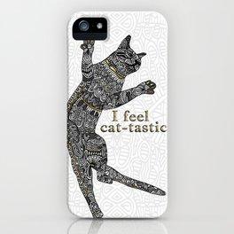 I feel cat-tastic! iPhone Case