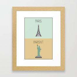 Punny Landmarks IX Framed Art Print