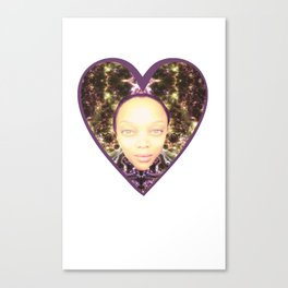 Tyra in Space Canvas Print