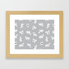 Playful Westies Framed Art Print