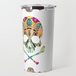 Decorative Skull Travel Mug