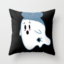 Little Ghost Scattered Throw Pillow