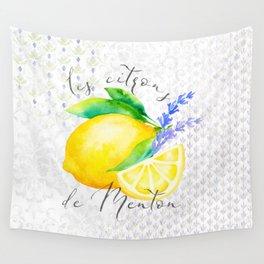 Les Citrons de Menton—Lemons from Menton, Côte d'Azur Wall Tapestry