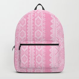 Ukrainian embroidery heavenly pink Backpack