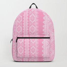 Ukrainian embroidery heavenly pink Backpack