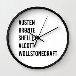 WOMEN OF CLASSICS (WHITE) Wall Clock