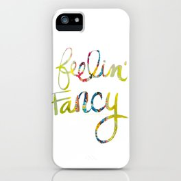 fancy quote fabric iPhone Case