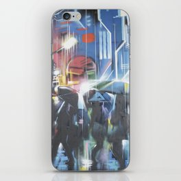 Rainy day in the city iPhone Skin