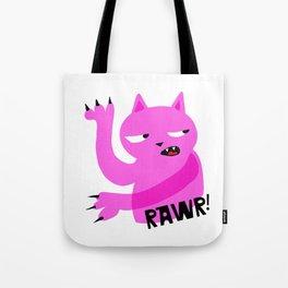 Pink Rawr Cat Tote Bag