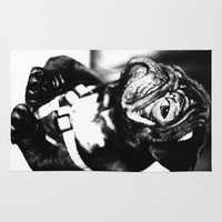 pug Area & Throw Rugs featuring Pug by Falko Follert Art-FF77
